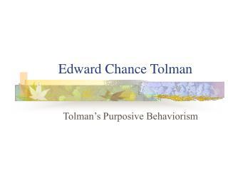 Edward Chance Tolman