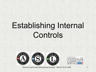 Establishing Internal Controls