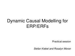 Dynamic Causal Modelling for ERP/ERFs