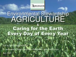 Environmental Stewardship