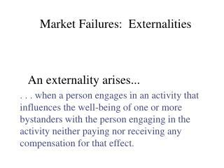 An externality arises...