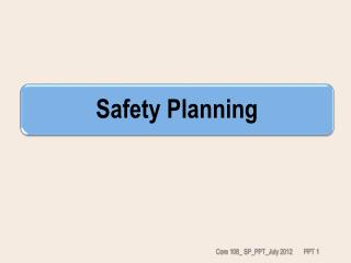 Safety Planning