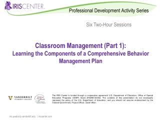 Classroom Management (Part 1):
