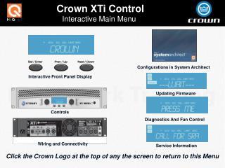 Crown XTi Control