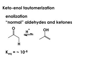 Keto-enol tautomerization