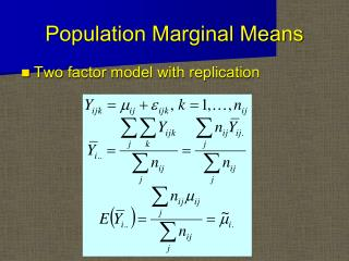 Population Marginal Means