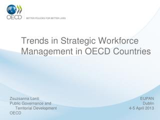 Trends in Strategic Workforce Management in OECD Countries