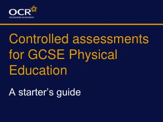 Controlled assessments for GCSE Physical Education