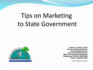 Tips on Marketing  to State Government