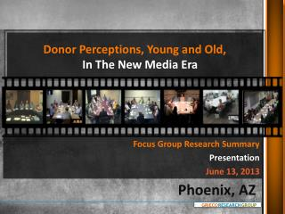 Donor Perceptions, Young and Old,  In The New Media Era