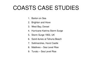 COASTS CASE STUDIES