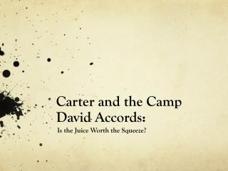 Carter and the Camp David Accords: