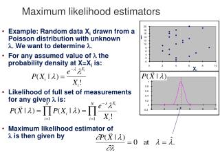 Maximum likelihood estimators