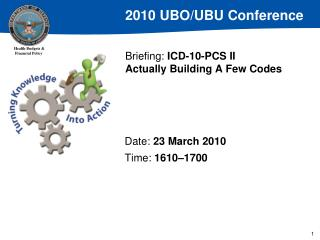 Briefing:  ICD-10-PCS II Actually Building A Few Codes