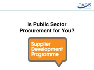 Is Public Sector Procurement for You?