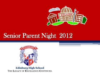 Senior Parent Night  2012