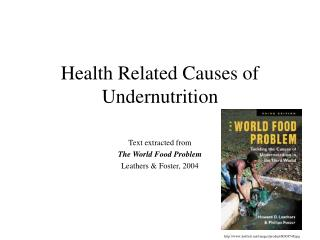 Health Related Causes of Undernutrition