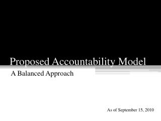 Proposed Accountability Model