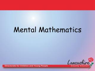 Mental Mathematics