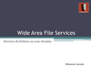 Wide Area File Services