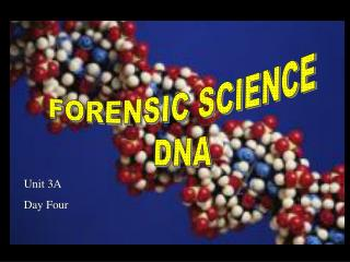 FORENSIC SCIENCE DNA