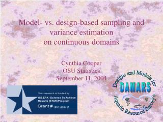 Model- vs. design-based sampling and variance estimation on continuous domains