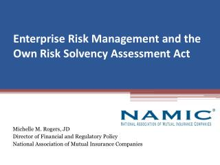 Enterprise Risk Management and the Own Risk Solvency Assessment Act