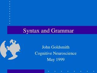 Syntax and Grammar