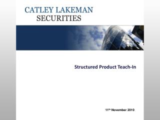 Structured Product Teach-In