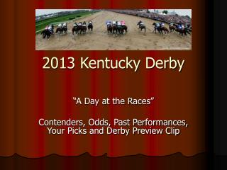 2013 Kentucky Derby