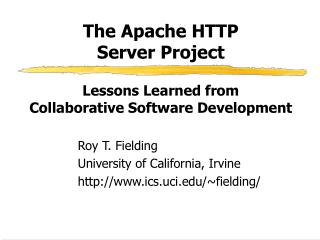 The Apache HTTP  Server Project