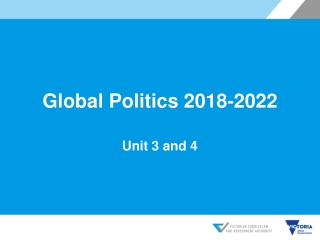 Global Politics 2018-2022