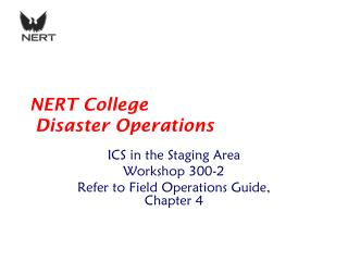 NERT College  Disaster Operations