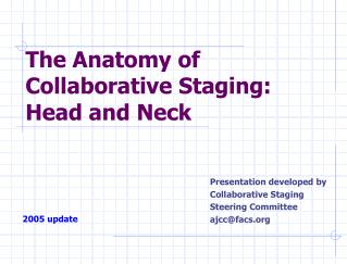 The Anatomy of Collaborative Staging: Head and Neck