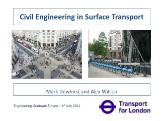 Civil Engineering in Surface Transport