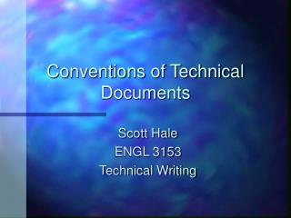Conventions of Technical Documents