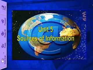 Unit 5 Sources of Information