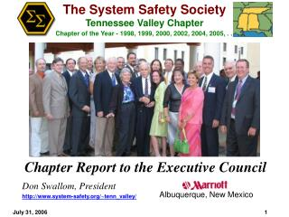 Chapter Report to the Executive Council