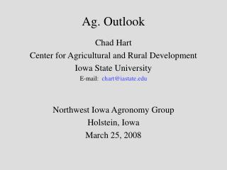 Ag. Outlook