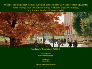 What Students Expect from Faculty and What Faculty Can Expect From Students: