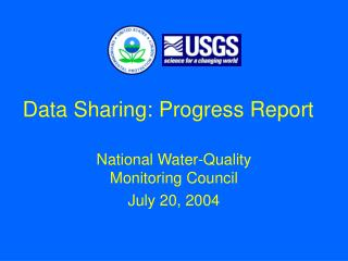 Data Sharing: Progress Report