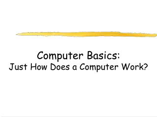 Computer Basics: Just How Does a Computer Work?