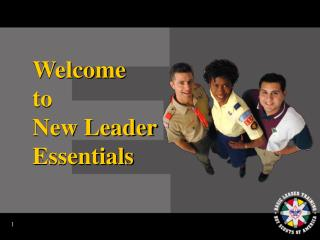 Welcome  to  New Leader Essentials
