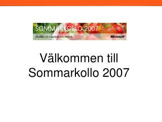 Välkommen till Sommarkollo 2007