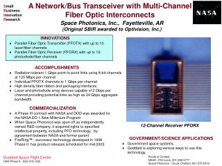 A Network/Bus Transceiver with Multi-Channel Fiber Optic Interconnects