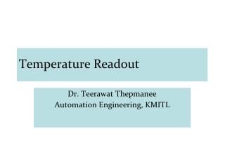Temperature Readout