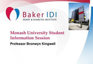 Monash University Student Information Session