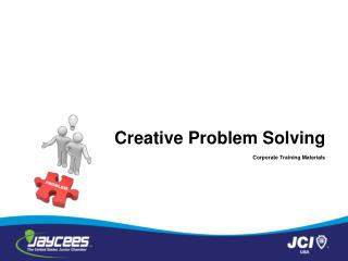 Creative Problem Solving Corporate Training Materials