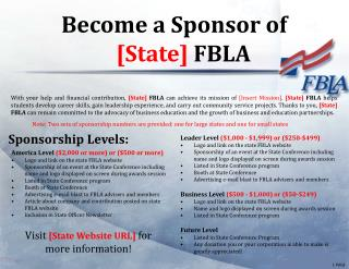 Sponsorship Levels: