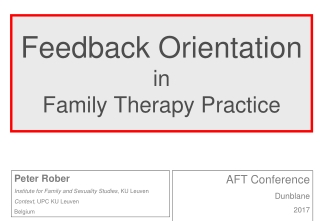 Orientation to Family Therapy